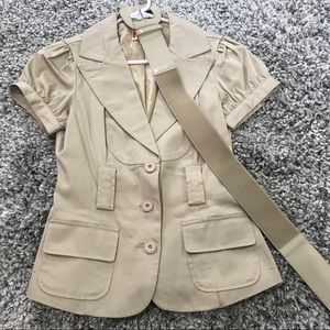 Forever 21 belted blazer tan size small